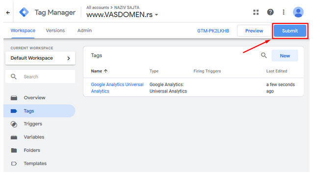 GTM - Google Tag Manager - Tutorijal - Tags - GA code displays