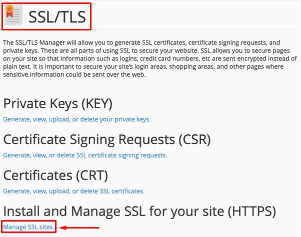 ZeroSSL - 11 - Manage SSL sites