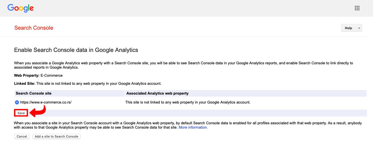 Povezivanje Google Search Console i Google Analytics - 4