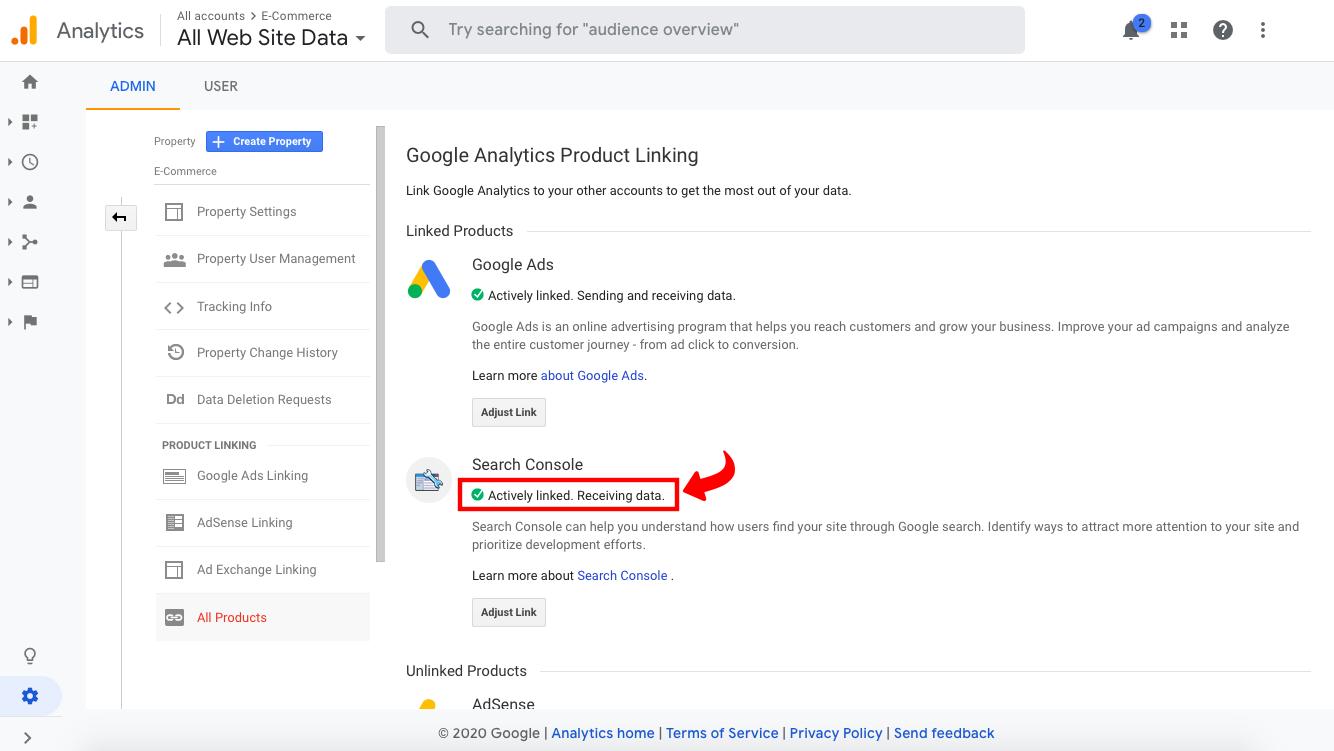 Povezivanje Google Search Console i Google Analytics - 7