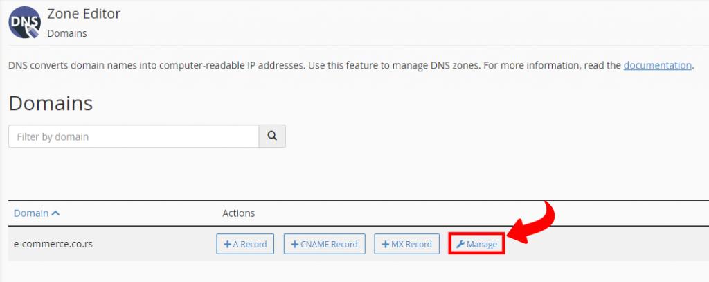 cPanel - Verifikacija dodavanjem DNS TXT parametara